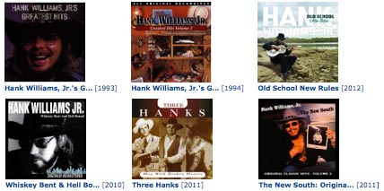 hank williams jr albums