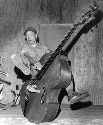 lum york playing bass fiddle